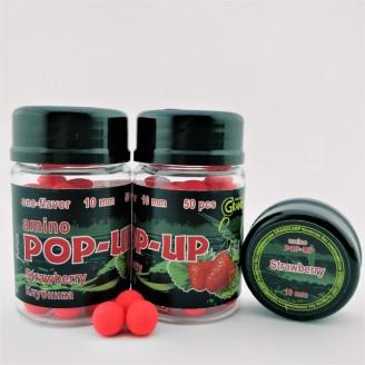 Бойлы Amino POP-UP Strawberry (Клубника) 10мм (50шт)