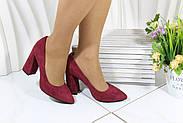 Червоні замшеві туфлі на підборах Vensi V356, фото 2
