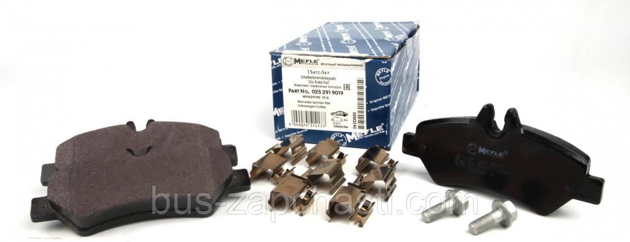 Задние колодки MB Sprinter 906, VW Crafter 2006→ — Meyle (Германия) — 025 291 9019