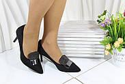 Туфли  женские замшевые черные Vensi V357, фото 6