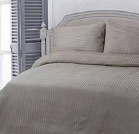 Семейное постельное белье LOTUS ОТЕЛЬ страйп какао 1 см