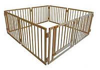 Детский манеж складной 72 см 8 секций с воротами Сосна