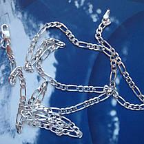 Серебряная цепочка, 500мм, 11 грамм, плетение Картье, фото 3