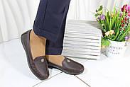 Кожаные женские туфли мокасины  Norka 10-38-65, фото 6