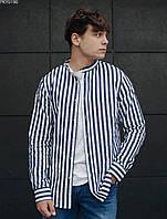 Рубашка мужская Staff Рубашка Staff line белая с синим