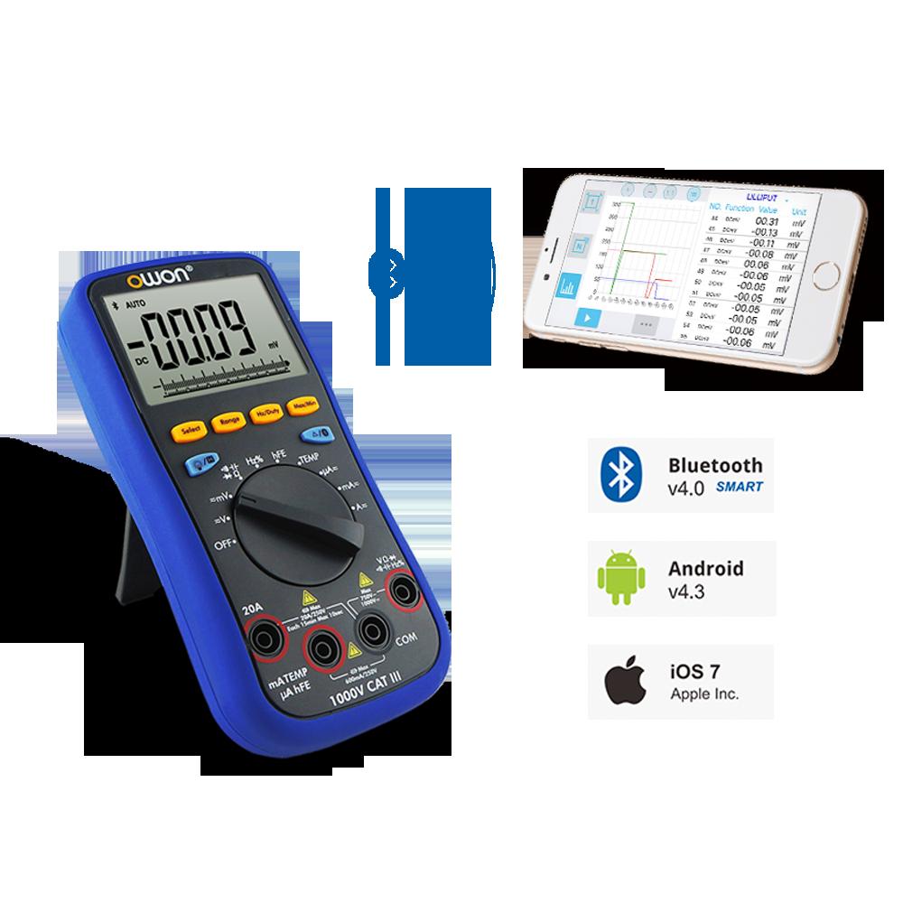 Цифровий Bluetooth-мультиметр OWON B35T+