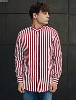 Рубашка мужская Staff Рубашка Staff line белая с красным