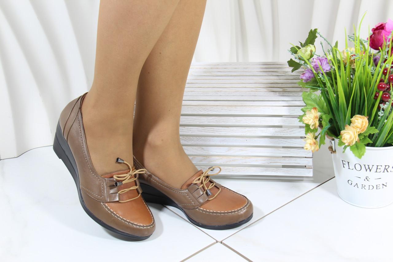 Осенние женские туфли на танкетке Norka 05-16-3