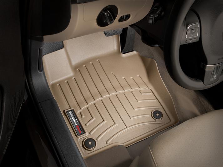 Ковры резиновые WeatherTech VW Beetle 2012-2019 передние бежевые