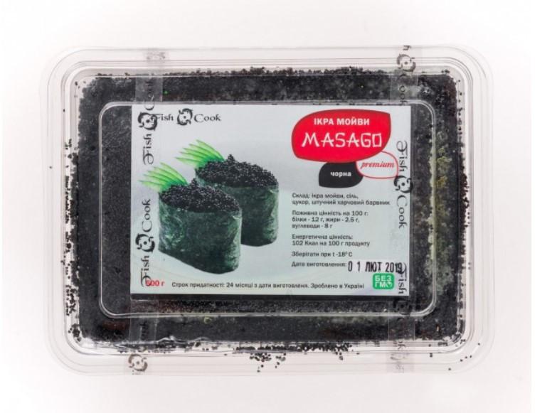Икра Масаго Черная Замороженная Fish Cook 0,5 кг