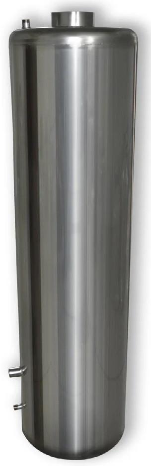 Бак для бойлера на дровах старого образца 90 литров  из нержавеющей стали 1,5мм