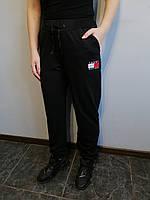 Спортивные штаны женские черные однотонные БАТАЛ Спорт Размер 48, 50, 52, 54