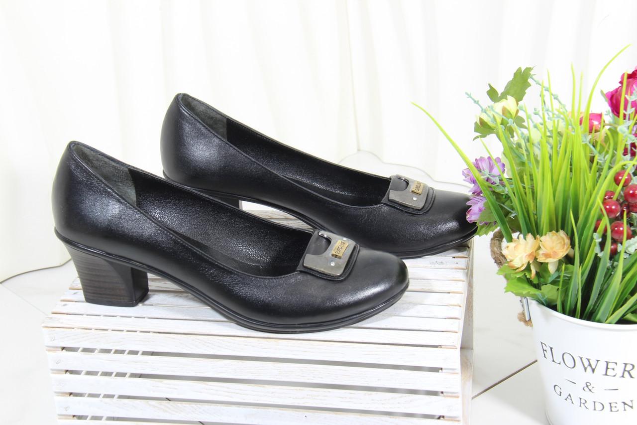 Туфли на среднем каблуке на большую ногу Bender S6170-S-D(B)