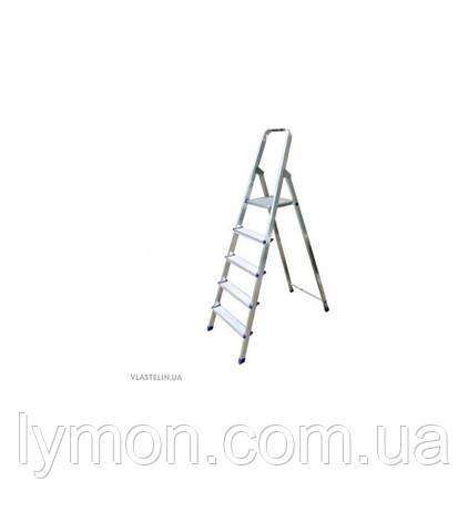 Стремянка алюминиевая Бегемот 5 ступеней, фото 2