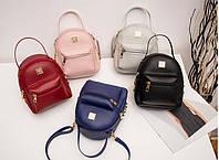 Стильный мини рюкзак для модных девушек с заклепками