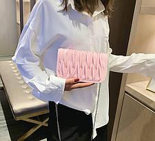 Стильная элегантная сумка клатч на цепочке, фото 2