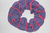 Вязаный шарф снуд(хомут) полушерстяной ручная работа