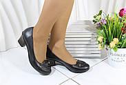 Кожаные женские туфли на каблуке Bender K53-S-V, фото 6