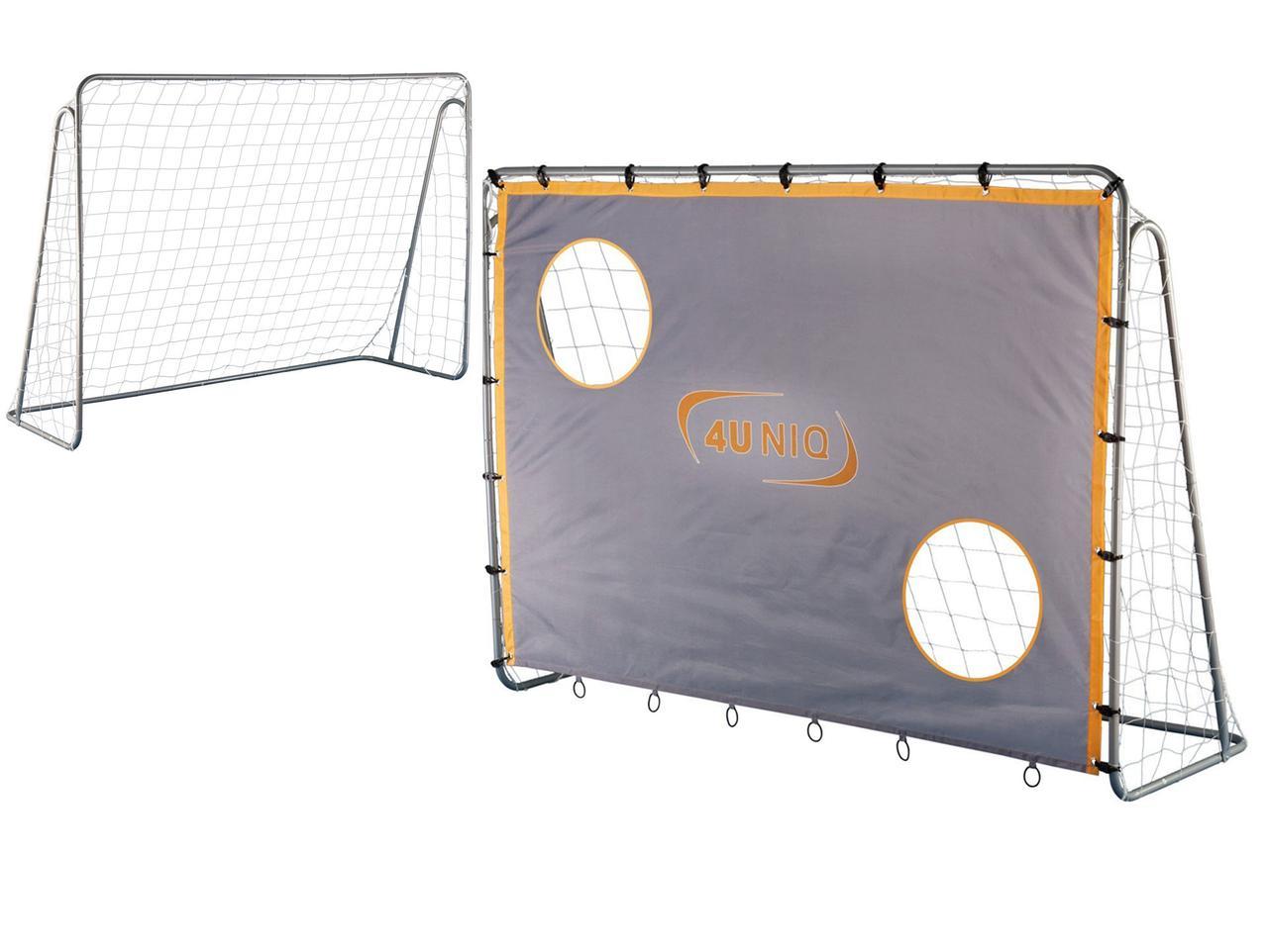 Футбольные ворота 4UNIQ Champion с экраном 213х152 (игровые футбольные ворота тренировочные ворота)