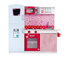 Кухня детская игровая деревянная TOBI TOYS 1002 (интерактивная кухня, кухня для детей)