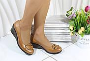 Кожаные женские туфли на танкетке Bender K53-T-K, фото 3