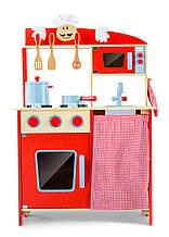 Кухня детская игровая деревянная W72 Tobi Toys ( интерактивная кухня, кухня для детей )