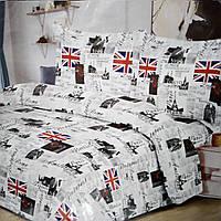 Постельное белье бязь 180/210 фабричное лондон