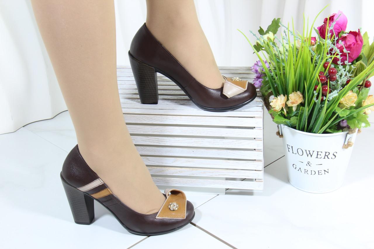 Кожаные женские туфли маленьких размеров Bender S6265-K-V-T(M)