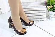 Шкіряні жіночі туфлі маленьких розмірів Bender S6265-K-V-T(M), фото 2