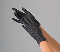 """Перчатки нитриловые """"M"""" 200шт/100 пар неопудренные нестерильные Черные Care 365 Standard"""
