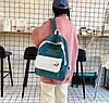 Большой вельветовый рюкзак с брелком, фото 4
