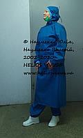 НЕМАРКИЙ КОМПЛЕКТ ЗАЩИТНОЙ ОДЕЖДЫ ТМ HELIOS VIVUS® (ПРОТИВОЧУМНЫЙ КОСТЮМ) МНОГОРАЗОВЫЙ с обувью