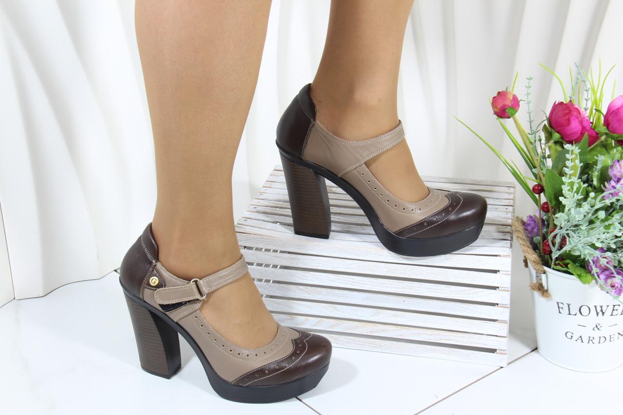 Туфлі жіночі Туреччина на високому каблуці GUERO 34-03-5-4