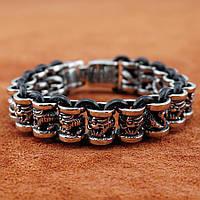 Мужской кожано-стальной браслет Kalen (KLT005) 21 см