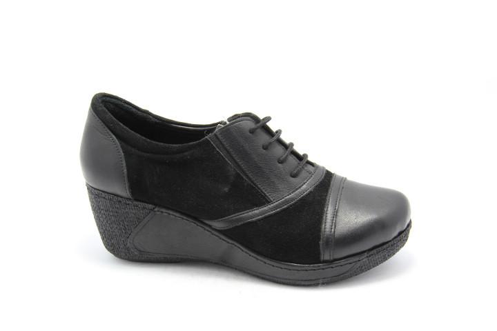 Туфли кожаные женские на танкетке Magic 402-02-10