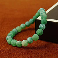 Женский браслет Baellerry из натуральных камней агат (TWB08) Зелёный