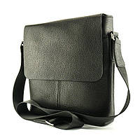 Мужская кожаная сумка-мессенджер Leather Productions (MSM03) Чёрный
