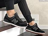 Женские (подростковые) кроссовки New Balance 574,черные, фото 2