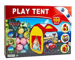 """Детская Палатка с шариками \""""Тачки\"""""""