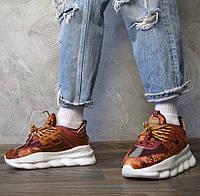 Versace Chain Reaction 2 Chainz Black | кроссовки мужские; коричневые; Версаче