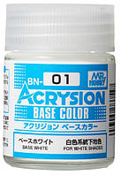 Базовый белый 18 мл. ACRYSION BASE COLOR BN01