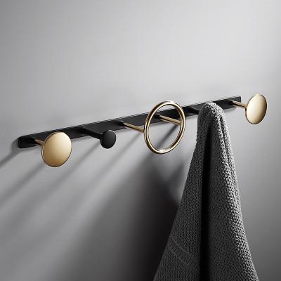 Вешалка для вещей черная и золотая. Модель 3-105