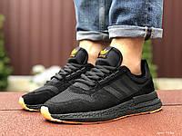 Мужские кроссовки Adidas Zx 500 Rm черные с оранжевым