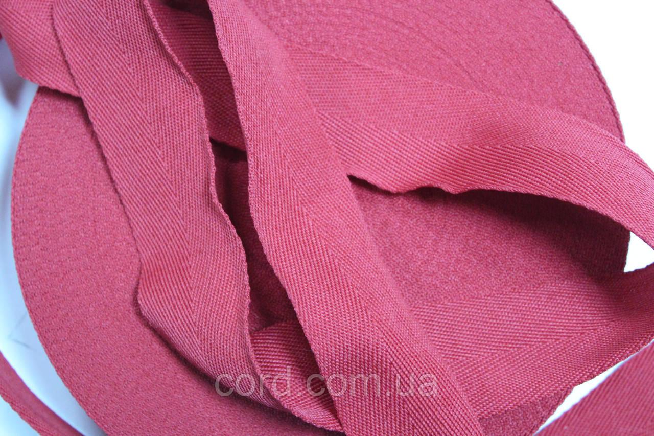 Тесьма киперная 40мм 50м розовый