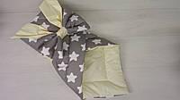 Конверт одеяло для новорожденных летний серый Панды  (ДРОПШИППИНГ)
