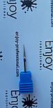 АЛМАЗНАЯ Игловидная ФРЕЗА ДЛЯ МАНИКЮРА И ПЕДИКЮРА синяя Enjoy Professional, фото 2