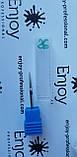 АЛМАЗНАЯ Игловидная ФРЕЗА ДЛЯ МАНИКЮРА И ПЕДИКЮРА синяя Enjoy Professional, фото 3