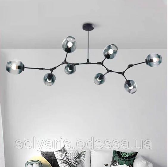 Люстра молекула на 8 плафонов 0231/8 (черная с серым)