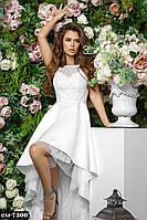 Женское стильное белое свадебное платье, фото 1