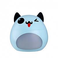 Ультразвуковой мини увлажнитель воздуха с USB лампой и вентилятором Humidifier Hyun Pet голубой